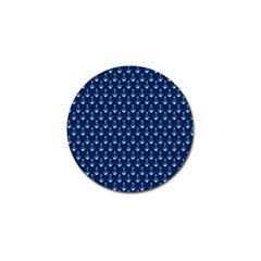 Blue White Anchor Golf Ball Marker (10 Pack) by Mariart