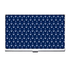 Blue White Anchor Business Card Holders by Mariart