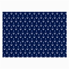 Blue White Anchor Large Glasses Cloth by Mariart