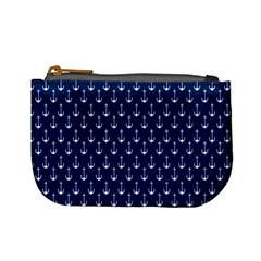 Blue White Anchor Mini Coin Purses by Mariart