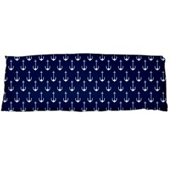 Blue White Anchor Body Pillow Case Dakimakura (two Sides) by Mariart