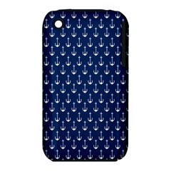 Blue White Anchor Iphone 3s/3gs by Mariart