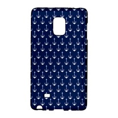 Blue White Anchor Galaxy Note Edge by Mariart