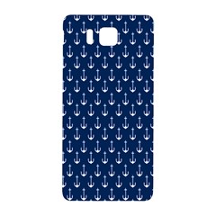 Blue White Anchor Samsung Galaxy Alpha Hardshell Back Case by Mariart