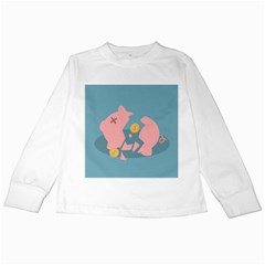 Coins Pink Coins Piggy Bank Dollars Money Tubes Kids Long Sleeve T Shirts by Mariart