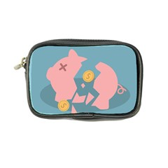 Coins Pink Coins Piggy Bank Dollars Money Tubes Coin Purse by Mariart