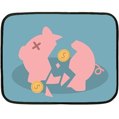 Coins Pink Coins Piggy Bank Dollars Money Tubes Double Sided Fleece Blanket (mini)  by Mariart