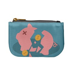 Coins Pink Coins Piggy Bank Dollars Money Tubes Mini Coin Purses by Mariart