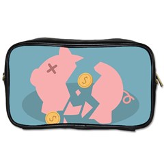 Coins Pink Coins Piggy Bank Dollars Money Tubes Toiletries Bags 2 Side by Mariart