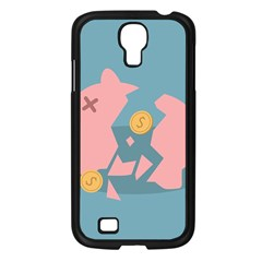 Coins Pink Coins Piggy Bank Dollars Money Tubes Samsung Galaxy S4 I9500/ I9505 Case (black) by Mariart