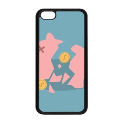 Coins Pink Coins Piggy Bank Dollars Money Tubes Apple Iphone 5c Seamless Case (black) by Mariart