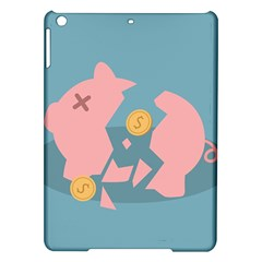 Coins Pink Coins Piggy Bank Dollars Money Tubes Ipad Air Hardshell Cases by Mariart