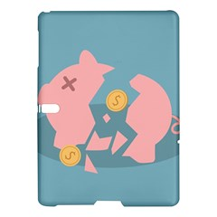 Coins Pink Coins Piggy Bank Dollars Money Tubes Samsung Galaxy Tab S (10 5 ) Hardshell Case  by Mariart