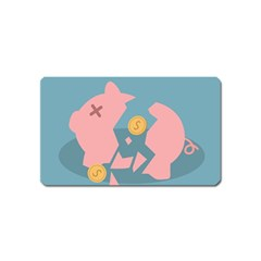 Coins Pink Coins Piggy Bank Dollars Money Tubes Magnet (name Card) by Mariart