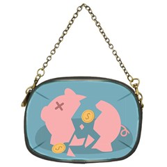 Coins Pink Coins Piggy Bank Dollars Money Tubes Chain Purses (two Sides)  by Mariart