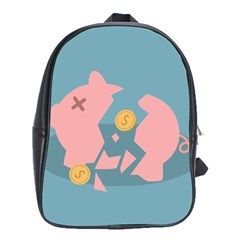 Coins Pink Coins Piggy Bank Dollars Money Tubes School Bags (xl)  by Mariart