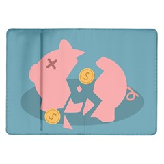 Coins Pink Coins Piggy Bank Dollars Money Tubes Samsung Galaxy Tab 10 1  P7500 Flip Case by Mariart