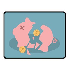Coins Pink Coins Piggy Bank Dollars Money Tubes Double Sided Fleece Blanket (small)  by Mariart
