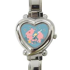 Coins Pink Coins Piggy Bank Dollars Money Tubes Heart Italian Charm Watch by Mariart