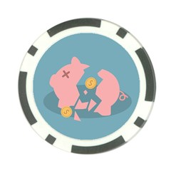 Coins Pink Coins Piggy Bank Dollars Money Tubes Poker Chip Card Guard (10 Pack) by Mariart
