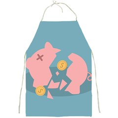 Coins Pink Coins Piggy Bank Dollars Money Tubes Full Print Aprons