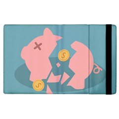 Coins Pink Coins Piggy Bank Dollars Money Tubes Apple Ipad 2 Flip Case by Mariart