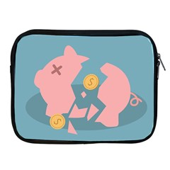 Coins Pink Coins Piggy Bank Dollars Money Tubes Apple Ipad 2/3/4 Zipper Cases by Mariart