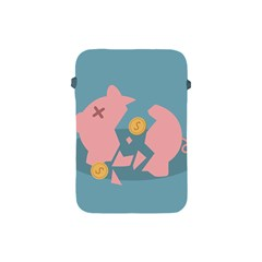 Coins Pink Coins Piggy Bank Dollars Money Tubes Apple Ipad Mini Protective Soft Cases by Mariart