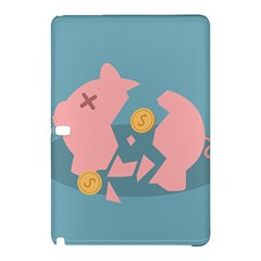 Coins Pink Coins Piggy Bank Dollars Money Tubes Samsung Galaxy Tab Pro 12 2 Hardshell Case