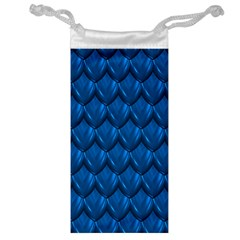 Blue Dragon Snakeskin Skin Snake Wave Chefron Jewelry Bag by Mariart