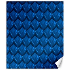 Blue Dragon Snakeskin Skin Snake Wave Chefron Canvas 20  X 24   by Mariart
