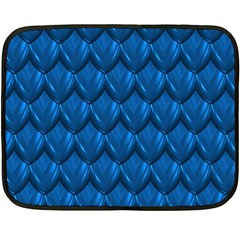 Blue Dragon Snakeskin Skin Snake Wave Chefron Fleece Blanket (mini) by Mariart