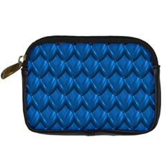 Blue Dragon Snakeskin Skin Snake Wave Chefron Digital Camera Cases by Mariart