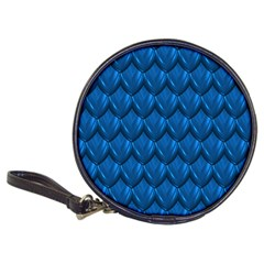 Blue Dragon Snakeskin Skin Snake Wave Chefron Classic 20 Cd Wallets by Mariart