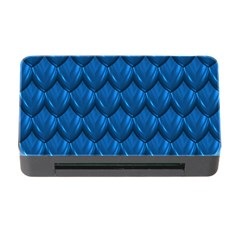 Blue Dragon Snakeskin Skin Snake Wave Chefron Memory Card Reader With Cf by Mariart