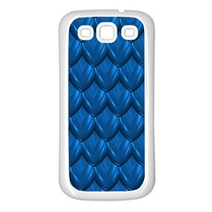Blue Dragon Snakeskin Skin Snake Wave Chefron Samsung Galaxy S3 Back Case (white) by Mariart