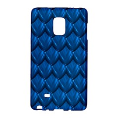 Blue Dragon Snakeskin Skin Snake Wave Chefron Galaxy Note Edge by Mariart