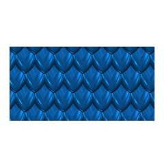 Blue Dragon Snakeskin Skin Snake Wave Chefron Satin Wrap by Mariart