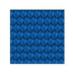 Blue Dragon Snakeskin Skin Snake Wave Chefron Small Satin Scarf (square) by Mariart