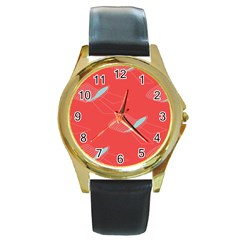 Chairs Wicker Cafe Party Comfortable Red Blue Round Gold Metal Watch