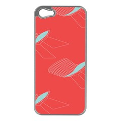 Chairs Wicker Cafe Party Comfortable Red Blue Apple Iphone 5 Case (silver) by Mariart