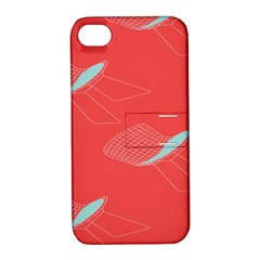 Chairs Wicker Cafe Party Comfortable Red Blue Apple Iphone 4/4s Hardshell Case With Stand by Mariart