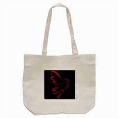 Dove Red Black Fly Animals Bird Tote Bag (cream)