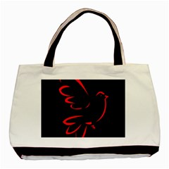 Dove Red Black Fly Animals Bird Basic Tote Bag (two Sides) by Mariart