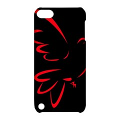 Dove Red Black Fly Animals Bird Apple Ipod Touch 5 Hardshell Case With Stand by Mariart