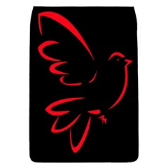 Dove Red Black Fly Animals Bird Flap Covers (l)  by Mariart