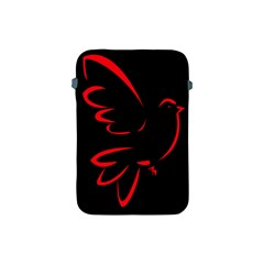 Dove Red Black Fly Animals Bird Apple Ipad Mini Protective Soft Cases by Mariart