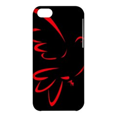 Dove Red Black Fly Animals Bird Apple Iphone 5c Hardshell Case by Mariart