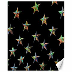 Colorful Gold Star Christmas Canvas 16  X 20   by Mariart