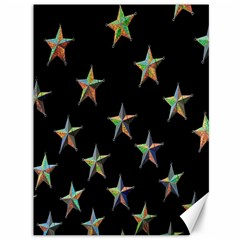Colorful Gold Star Christmas Canvas 36  X 48   by Mariart